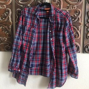 Flannel Patterned Button Down